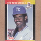 1989 Donruss Baseball Luis de los Santos Royals #562