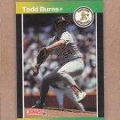 1989 Donruss Baseball Todd Burns A's #564