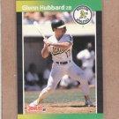 1989 Donruss Baseball Glenn Hubbard A's #568
