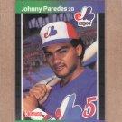 1989 Donruss Baseball Johnny Paredes Expos #570