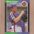 1989 Donruss Baseball Barry Lyons Mets #572