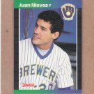 1989 Donruss Baseball Juan Nieves Brewers #575