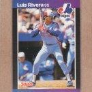 1989 Donruss Baseball Luis Rivera Expos #578