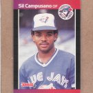 1989 Donruss Baseball Sil Campusano Blue Jays #584