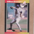 1989 Donruss Baseball William Brennan Dodgers #589