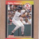 1989 Donruss Baseball Spike Owen Red Sox #593