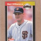 1989 Donruss Baseball Matt Williams Giants #594