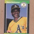 1989 Donruss Baseball Steve Ontiveros A's #596