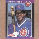 1989 Donruss Baseball Manny Trillo Cubs #608