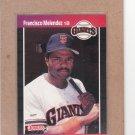 1989 Donruss Baseball Francisco Melendez Giants #611