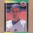 1989 Donruss Baseball Keith Miller Mets #623