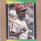1989 Donruss Baseball Ricky Jordan RC Phillies #624