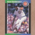 1989 Donruss Baseball Scott Sanderson Cubs #629