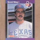 1989 Donruss Baseball Scott May Rangers #636