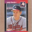 1989 Donruss Baseball Jody Davis Braves #650