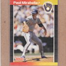 1989 Donruss Baseball Paul Mirabella Brewers #654
