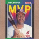 1989 Donruss Baseball MVP Joe Carter #BC-3