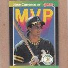 1989 Donruss Baseball MVP Jose Canseco #BC-5