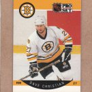 1990 Pro Set Hockey Dave Christian Bruins #6