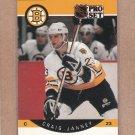 1990 Pro Set Hockey Craig Janney Bruins #8
