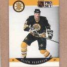 1990 Pro Set Hockey Allen Pedersen Bruins #12