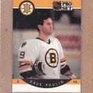 1990 Pro Set Hockey Dave Poulin Bruins #13