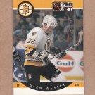 1990 Pro Set Hockey Glen Wesley Bruins #16