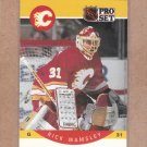 1990 Pro Set Hockey Rick Wamsley Flames #48