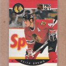 1990 Pro Set Hockey Keith Brown Blackhawks #49