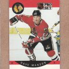 1990 Pro Set Hockey Dave Manson Blackhawks #54