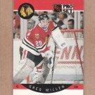 1990 Pro Set Hockey Greg Millen Blackhawks #56
