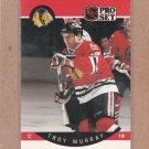 1990 Pro Set Hockey Troy Murray Blackhawks #56