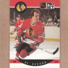 1990 Pro Set Hockey Al Secord Blackhawks #60