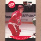 1990 Pro Set Hockey Shawn Burr Red Wings #66