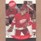 1990 Pro Set Hockey Jimmy Carson Red Wings #67
