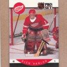 1990 Pro Set Hockey Glen Hanlon Red Wings #72