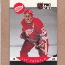 1990 Pro Set Hockey Lee Norwood Red Wings #74