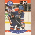 1990 Pro Set Hockey Charlie Huddy Oilers #85