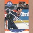 1990 Pro Set Hockey Craig Mactavish Oilers #90
