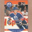 1990 Pro Set Hockey Craig Muni Oilers #92