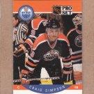 1990 Pro Set Hockey Craig Simpson Oilers #95
