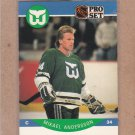 1990 Pro Set Hockey Mikael Andersson Whalers #98