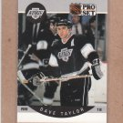 1990 Pro Set Hockey Dave Taylor Kings #128