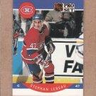 1990 Pro Set Hockey Stephan Lebeau Canadiens #152
