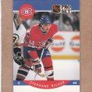 1990 Pro Set Hockey Stephane Richer Canadiens #156