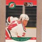 1990 Pro Set Hockey Doug Brown Devils #163