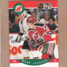 1990 Pro Set Hockey Mark Johnson Devils #168