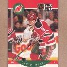 1990 Pro Set Hockey David Maley Devils #171