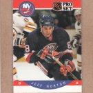 1990 Pro Set Hockey Jeff Norton Islands #189