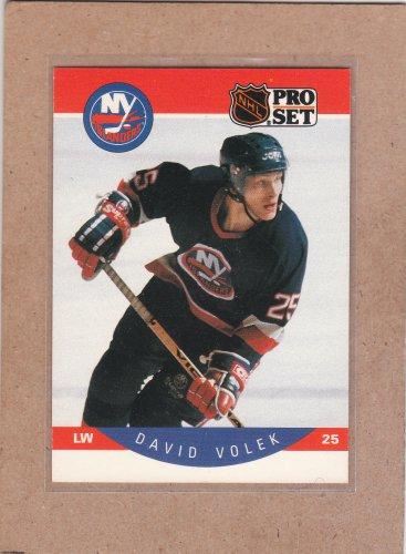 1990 Pro Set Hockey David Volek Islands #193